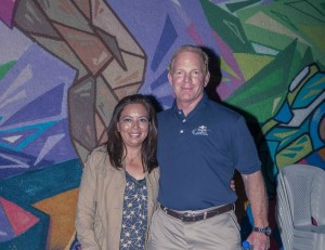 Veronica Ochoa and Jim Roquemore at the Guatemalan swearing in ceremony for the Central American and Caribbean Games.
