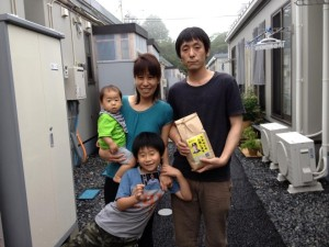 Matt Murton Rice Donation Project in the tsunami-devastated region of Tohoku for survivors in temporary housing.